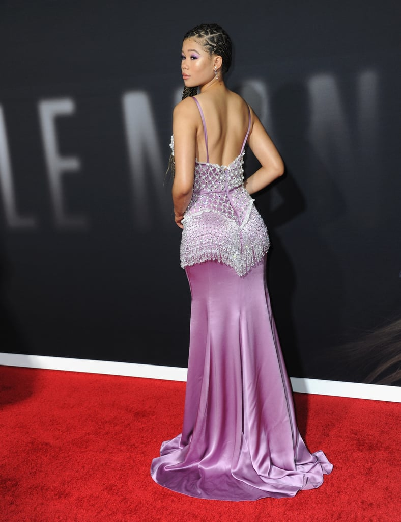 Storm Reid's Miu Miu Dress at The Invisible Man Premiere