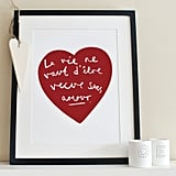 Amour French heart ($25)