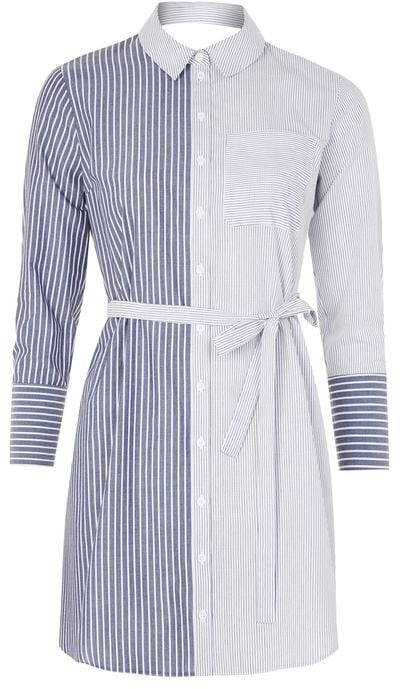 Looking for a shirtdress ($80) to wear to work? There's no better option than this striped one.