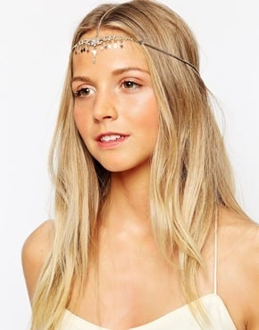 Orelia Crystal & Diamond Hair Crown