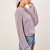 Reformation Rose Pointelle Linen Sweater