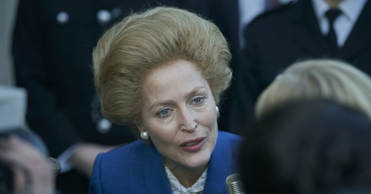 Even We Have to Admit Gillian Anderson Pulls Off Margaret Thatcher's Famous Bouffant