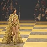 Bella Hadid Walking the Off-White Runway at Paris Fashion Week Womenswear Fall/Winter 2019/2020