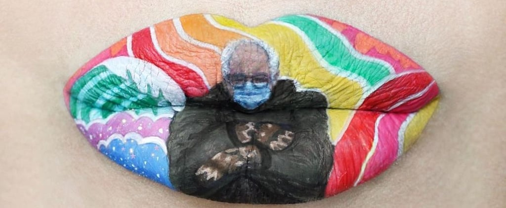 Someone Turned the Bernie Sanders Meme Into Lip Art