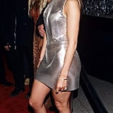 In a Silver Minidress in 1999