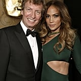 Jennifer Lopez and Nigel Lythgoe at the BAFTA Brits to Watch event in LA.