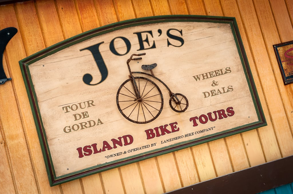 You can tour the island by bike.