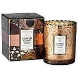 Voluspa Copper Clove Boxed Scalloped Candlepot