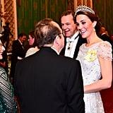 زي كيت ميدلتون في حفل الاستقبال الذي تقيمة الملكة