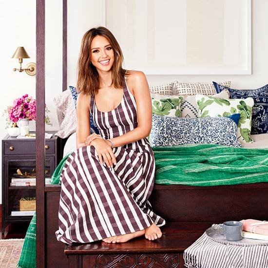 Jessica Alba and Daughters in Better Homes and Gardens POPSUGAR Home