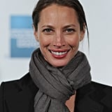 Christy Turlington smiled on the red carpet at the premiere of Hysteria at the 2012 Tribeca Film Festival.