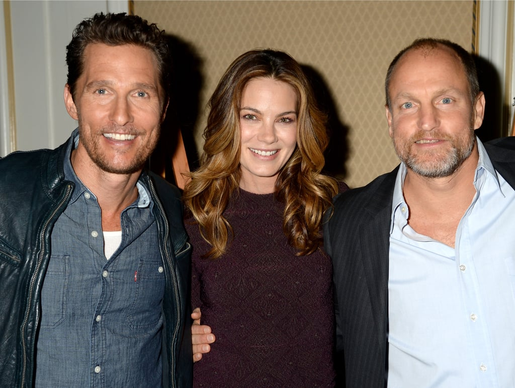 Matthew McConaughey posed with Michelle Monaghan and Woody Harrelson.