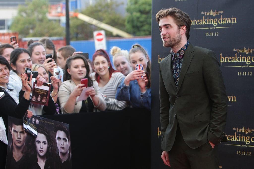 Robert Pattinson Kicks Off His Last Twilight Tour Down Under