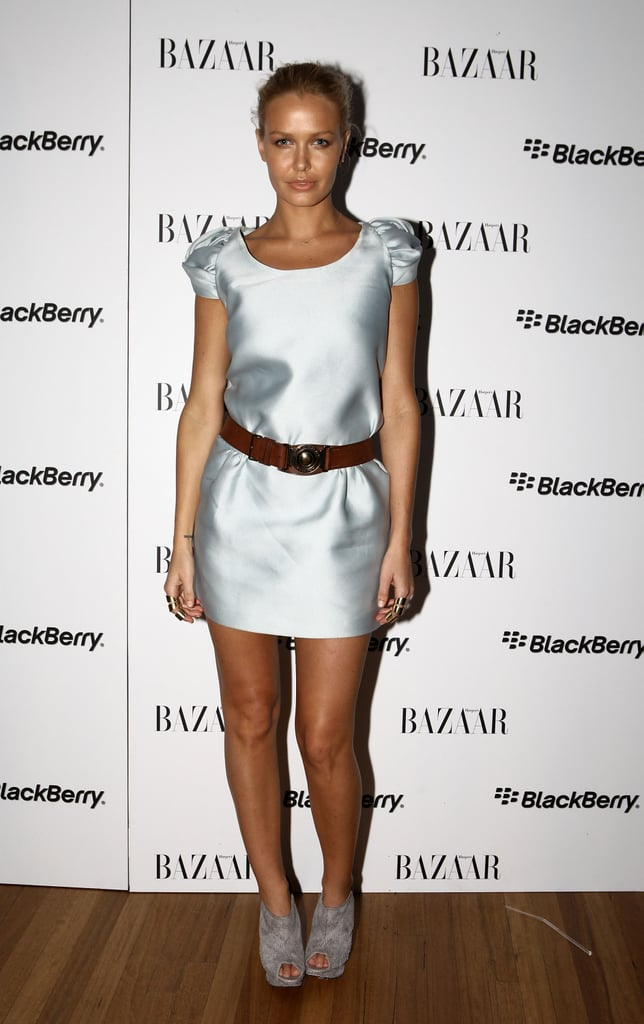 Let's take a break from all the shows — for just one moment — and zone in on an RAFW partay, shall we? Last night's Harper's BAZAAR and BlackBerry soiree attracted the who's who of Sydney's fashion scene, as well as a few famous faces. Lara Bingle (In Burberry) took a break from her blogging duties to attend, and Terry Biviano had a well deserved drink after producing some spectacular heels for Dion Lee's show today. Click through our slideshow to stalk all the beautiful people.