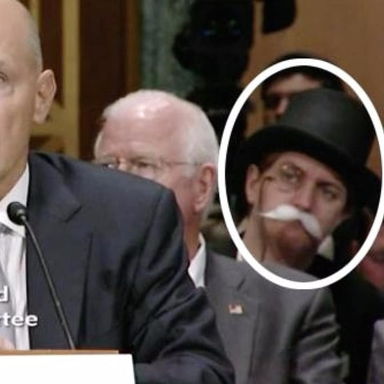 Monopoly Man at Equifax CEO Richard Smith's Senate Hearing