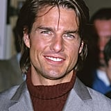 Tom Cruise had long hair for the Academy Awards in March 2000.