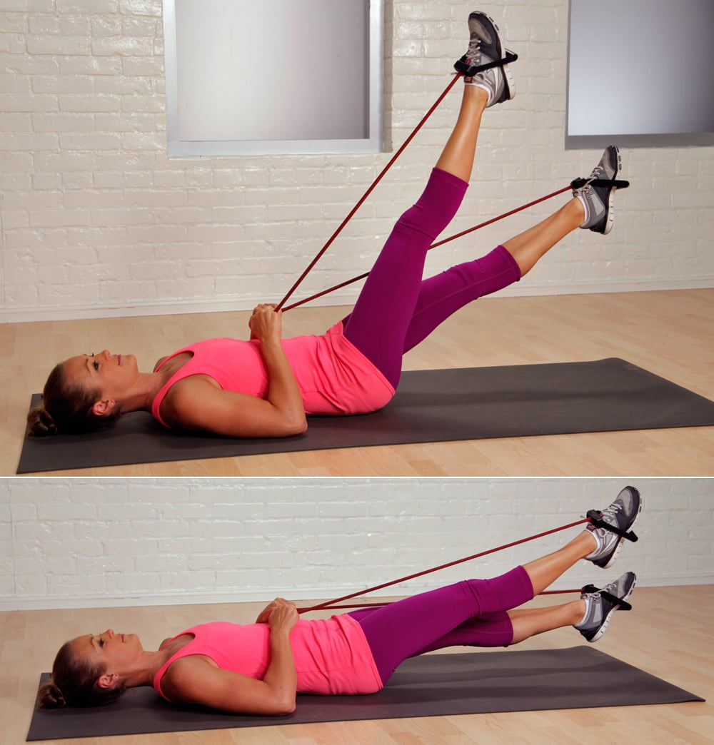Flutter kicks with resistance band the 25 best exercises for Floor exercises for abs