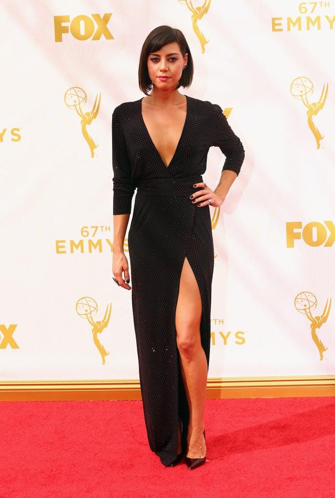 Aubrey Plaza  Rainbow Dresses At Emmys 2015  Popsugar Fashion Photo 20-8477