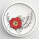 Painted Flower Ceramic Trinket Dish​