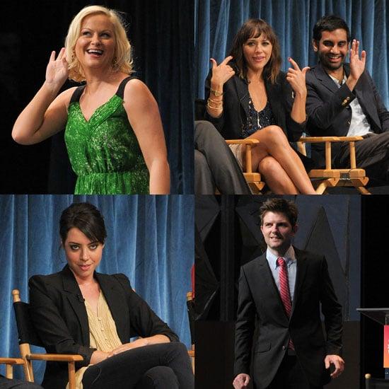Pictures of Amy Poehler, Rashida Jones, Adam Scott, Aziz Ansari, and Aubrey Plaza at a Parks and Recreation Panel