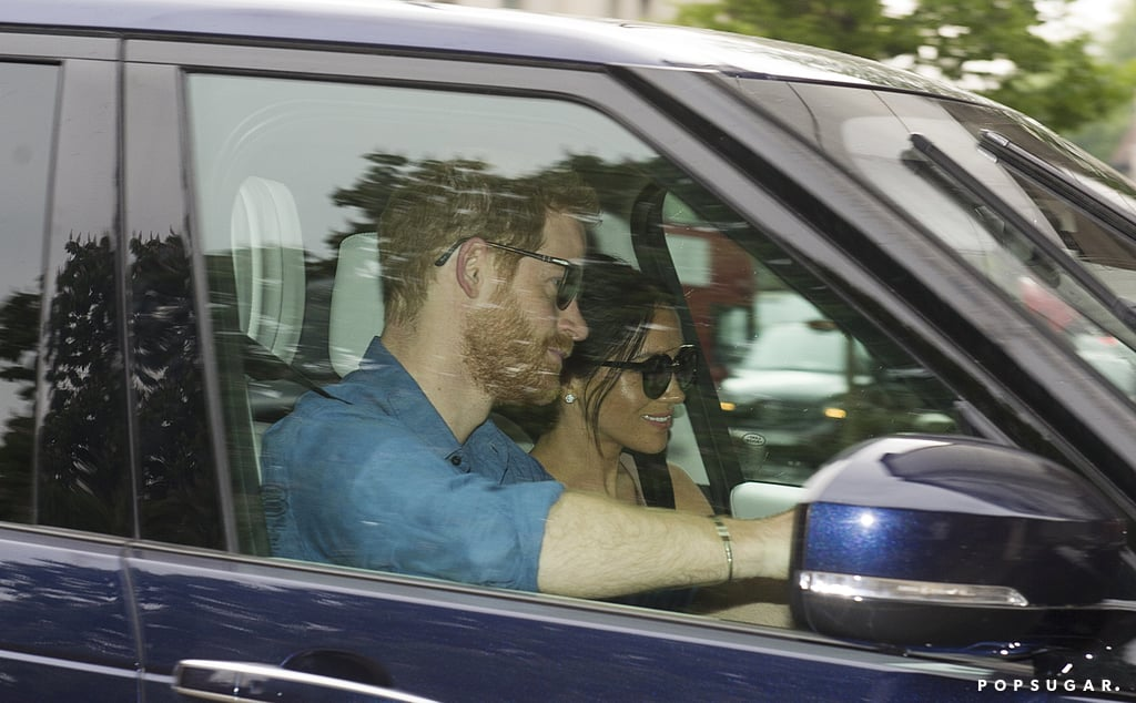 Most couples jet off for their honeymoon almost immediately after their wedding, but in case you haven't figured it out yet, Prince Harry and Meghan Markle are not like most couples. Just two days after tying the knot in a beautiful ceremony at St. George's Chapel in Windsor, the newlyweds got back to business and were spotted arriving at Kensington Palace on Monday. Both Harry and Meghan appeared to still be floating on cloud nine as they drove up to the palace and Meghan flashed a big smile.  Earlier in the day, Kensington Palace released Harry and Meghan's official wedding portraits, and yes, they're as stunning as you'd expect. The photographs, which were taken by Alexi Lubomirski at Windsor Castle, feature the royal couple with their nearest and dearest including Meghan's mom, Doria Ragland, Prince William, Kate Middleton, Prince George, Princess Charlotte, Queen Elizabeth II, and Prince Philip, as well as the rest of Meghan and Harry's pageboys and bridesmaids.  Harry and Meghan will eventually be heading to a luxury resort in Namibia for their honeymoon, but before then, the couple will have their first engagement as a married couple at Prince Charles's 70th birthday patronage. The event will take place on Tuesday in the gardens of Buckingham Palace and more than 6,000 people are expected to attend.       Related:                                                                                                           13 Fun Facts About Harry and Meghan's Wedding That Will Make You Feel Like You Were There