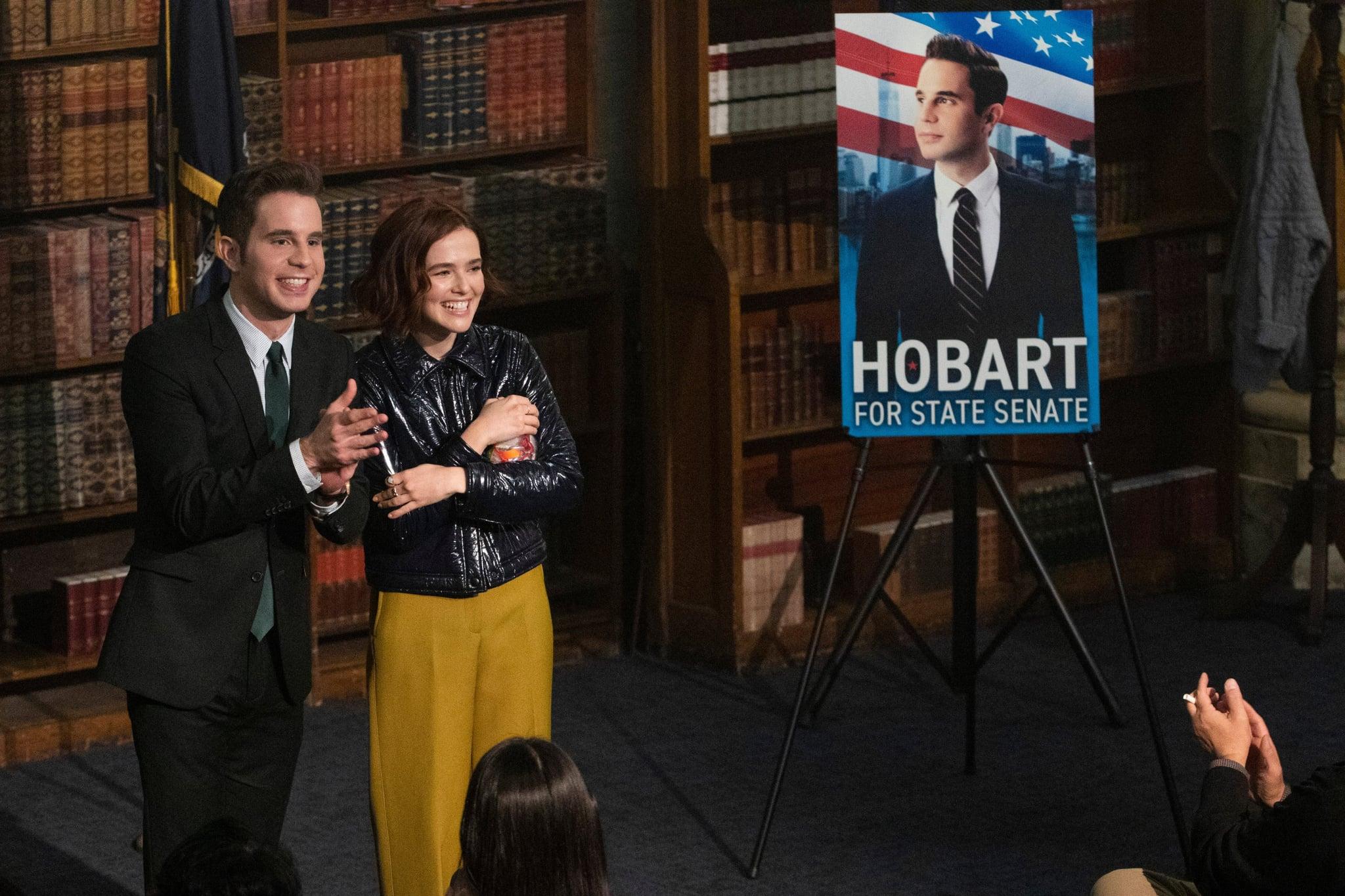 THE POLITICIAN, from left: Ben Platt, Zoey Deutch, (Season 2, ep. 203, aired June 19, 2020). photo: Giovanni Rufino / Netflix / Courtesy Everett Collection