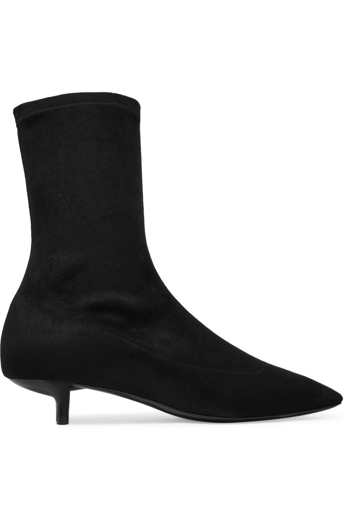 Black Faux-Leather Sock Boots Stella McCartney