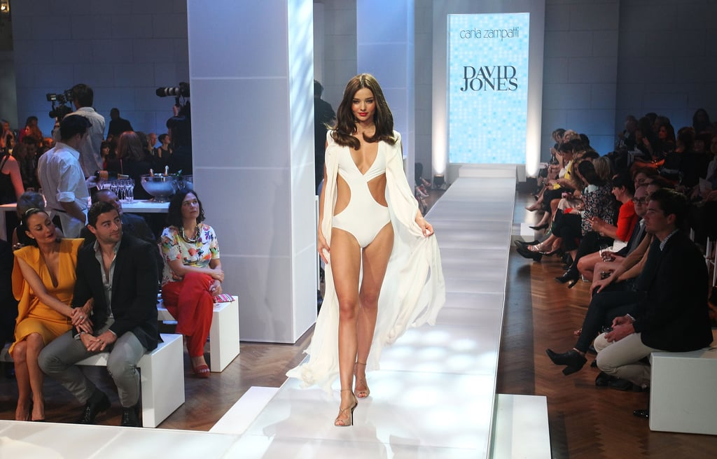 Miranda Kerr strutted down the runway at the David Jones 2012-2013 Season Launch.