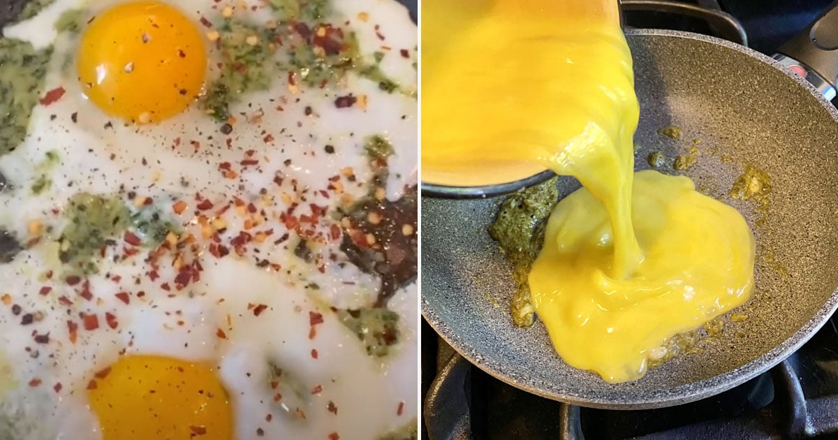 I Made TikTok's Viral Pesto Eggs, and This Is Honestly My New Favorite Breakfast