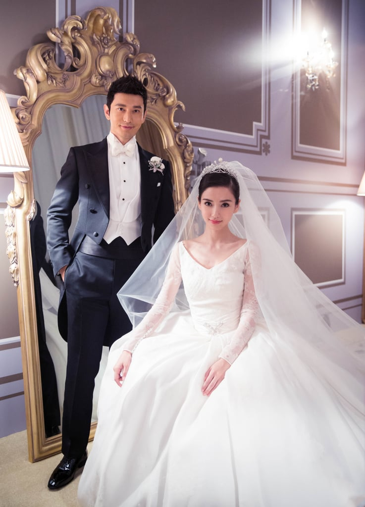 Angelababy wedding in china popsugar fashion for What to do with old wedding dress after divorce