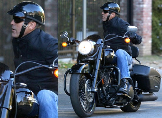 Photos of George Clooney on His Motorcycle in Los Angeles