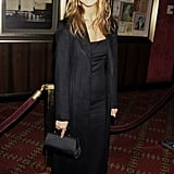 Aniston cheekily donned an all-black ensemble — long black dress, matching coat, and satin clutch — for the Meet Joe Black NYC premiere in 1998.