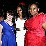 Angela Bassett and Jamie Brewer look so cute together. Oh, and Octavia Spencer was there too.