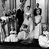 Margaret's wedding was the first royal ceremony to be broadcast on TV and attracted 300 international viewers. Her niece, Princess Anne, served as one of her eight bridesmaids. Margaret and Antony would go on to have two children, Lady Sarah Armstrong-Jones (now Chatto) and David Armstrong-Jones, the 2nd Earl of Snowdon. After 18 years, Margaret and Antony's volatile marriage ended in divorce in 1978.