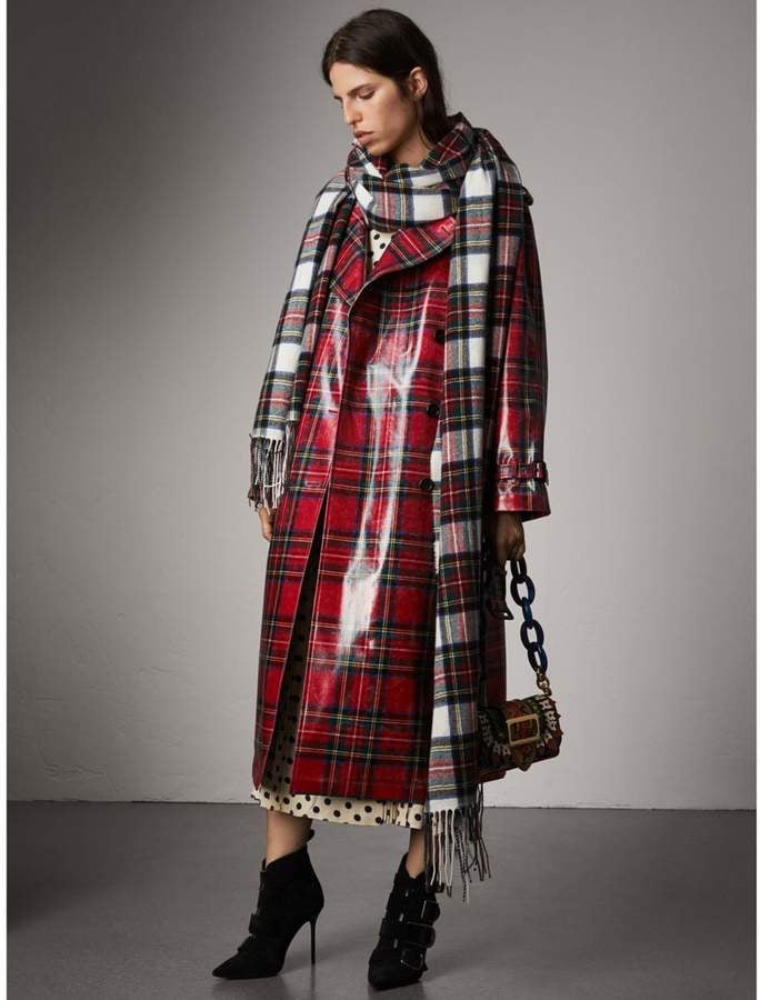 Bella's Burberry Laminated Tartan Wool Trench Coat