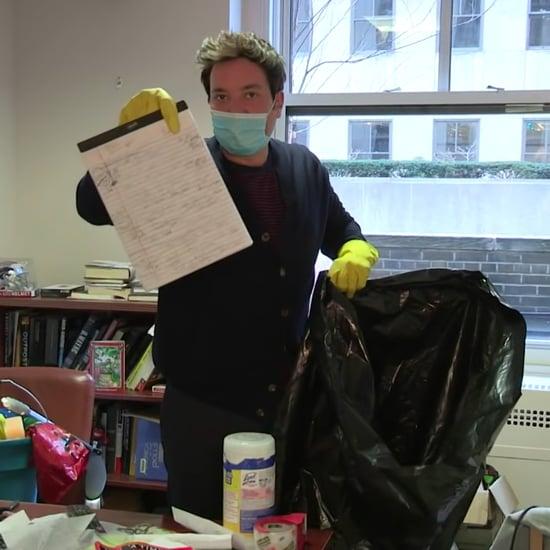 Watch Jimmy Fallon Clean Steve Kornacki's Chaotic Office