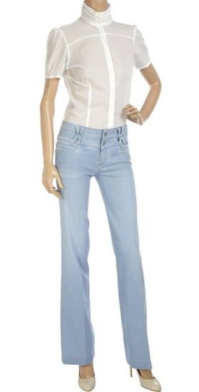 '70s-Style, Wide-Leg, Light-Colored Jeans Like Claudia Schiffer