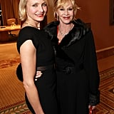 Cameron Diaz linked up with Melanie Griffith for a dinner in honor of Jeffrey Katzenberg at CinemaCon in Las Vegas.