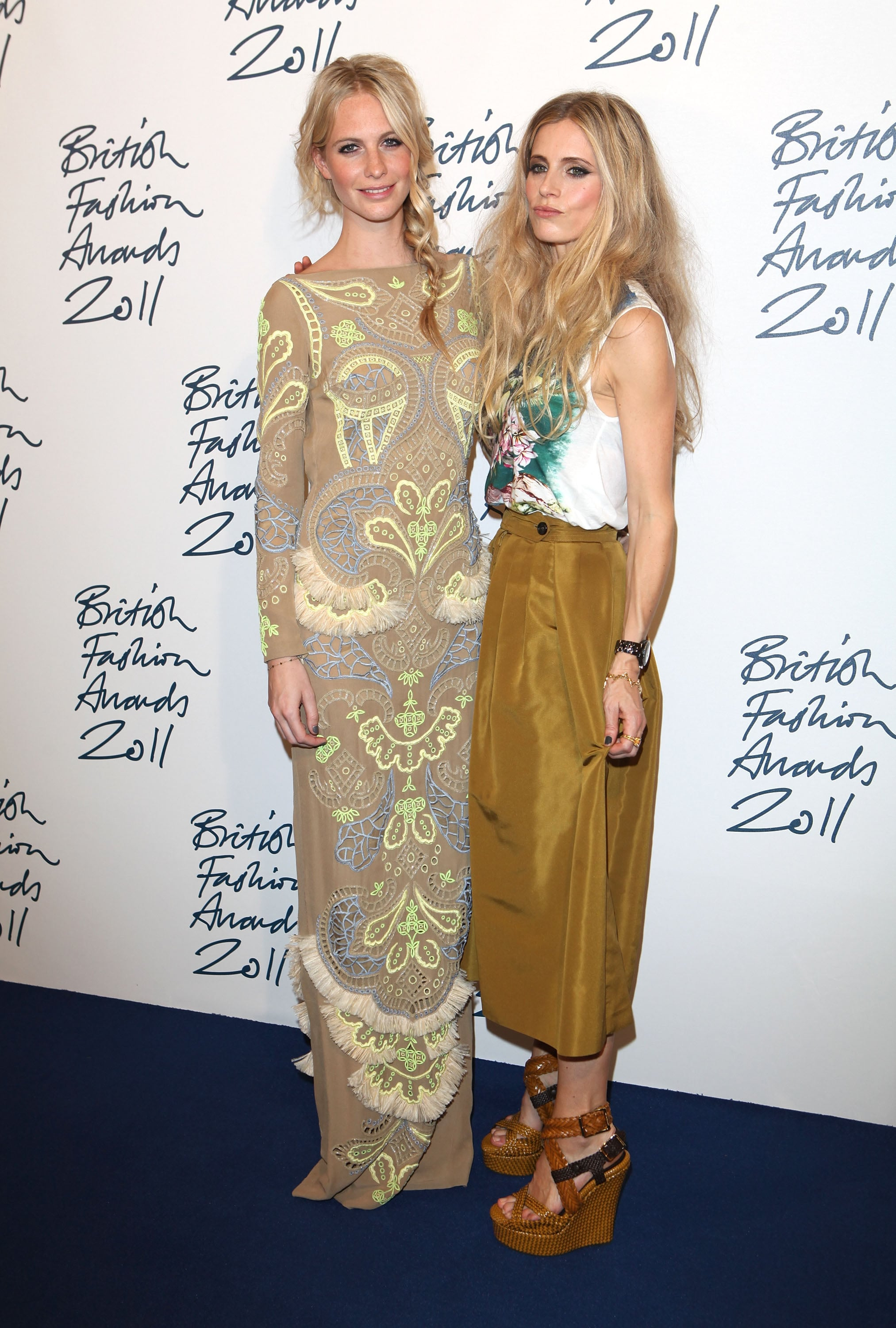 Poppy Delevingne and Laura Bailey