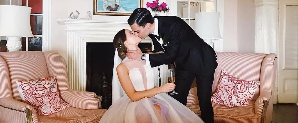Excuse Us, We're Getting Major Heart Eyes Over This Bride's Stunning Sheer Dress