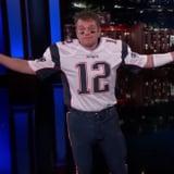 Matt Damon on Jimmy Kimmel Live Dressed as Tom Brady Video