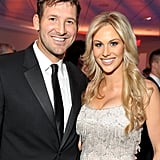 Tony Romo and Candice Crawford were happy to be there.