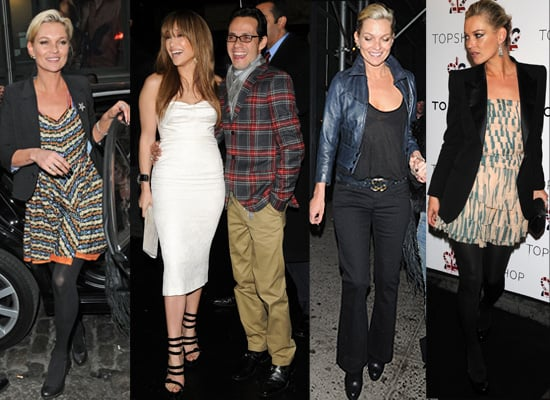 02/04/2009 Kate Moss Jennifer Lopez Topshop NYC
