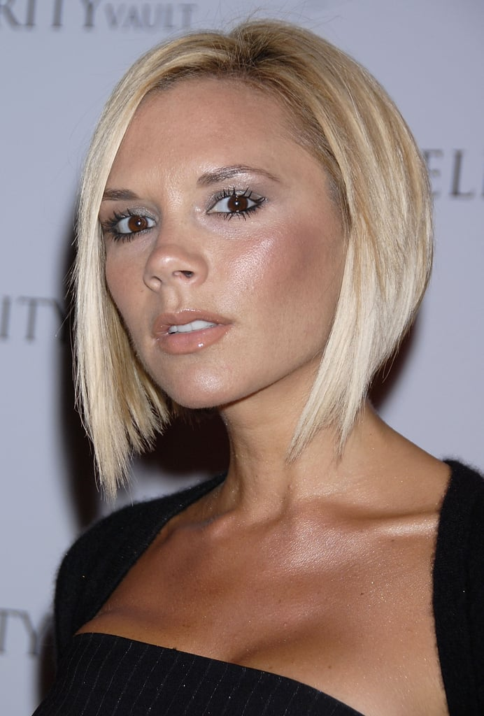 Pop-star-turned-designer Victoria Beckham's asymmetrical blonde bob is one of the more iconic hairstyles of the 2000s.