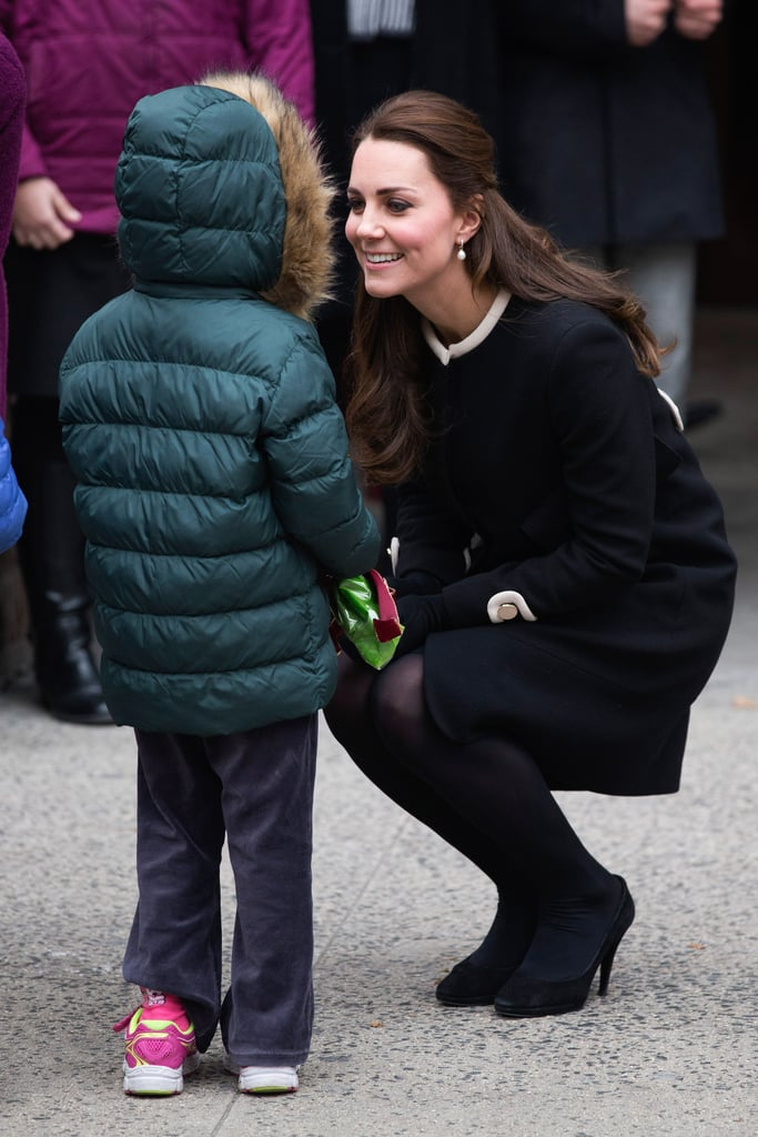 The Duke and Duchess of Cambridge spent the first part of their trip to the US apart as Prince William travelled to Washington DC on Monday morning US time to attend a special conference on behalf of his conservation charities and Kate Middleton stayed behind in NYC to visit local children. The duchess was seen arriving at the NorthsideCenter for Child Development in Harlem, where she met New York City's first lady, Chirlane McCray, to learn about the child centre. Afterwards, Kate greeted a group of children who had lined up outside the centre, accepting flowers and chatting with one lucky little boy. She will later attend a lunch at the British Consul General's residence in the city to celebrate the achievements of the British community in the Big Apple. While in DC, William will join William Hague to attend the International Corruption Hunters Alliance conference at the World Bank to discuss transportation across borders of illegal wildlife parts. He will also attend a lunch to meet with various representatives from different conservation organizations. He will later travel back to NYC to meet with Hillary Clinton and Chelsea Clinton at the British Consul General's residence to attend a reception about conservation. While this sounds like a lot, it isn't even half of the couple's trip — be sure to get all the details about Will and Kate's first visit to NYC!
