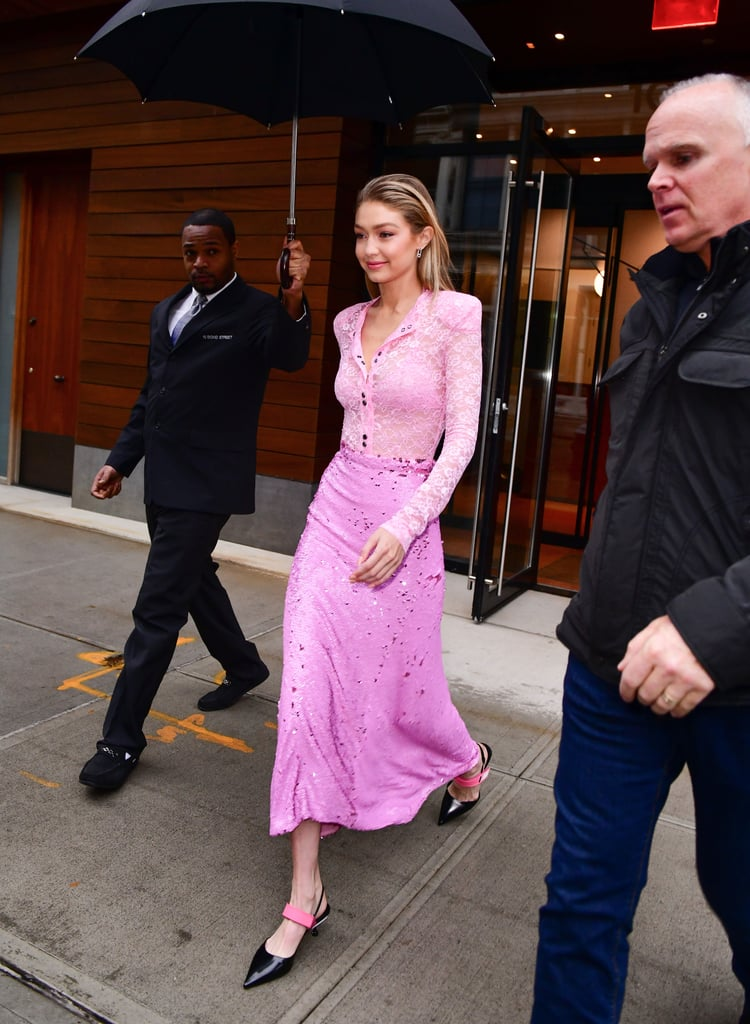 Gigi Hadid's Pink Prada Shoes