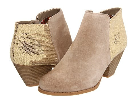 These suede booties ($90) have just a touch of sparkle. — Tara Block, assistant editor