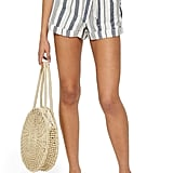 Topshop Stripe Paperbag Shorts