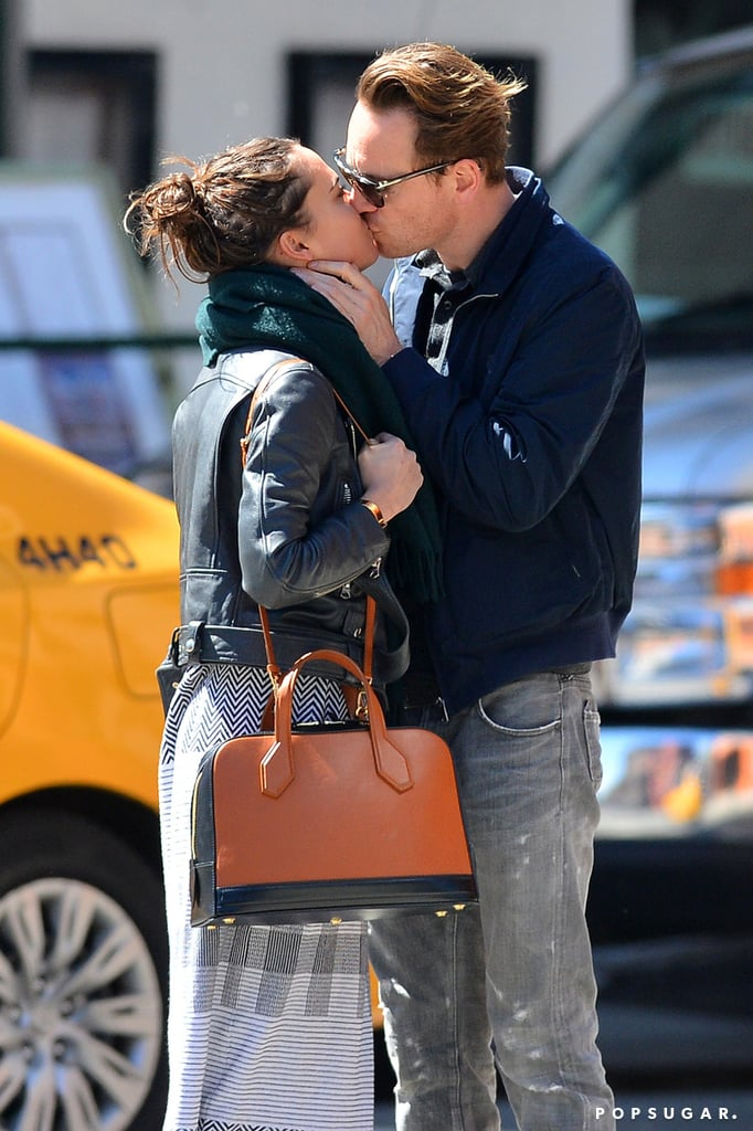 Michael Fassbender and Alicia Vikander Kissing in NYC