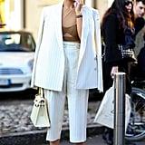 Miroslava Duma at Milan Fashion Week